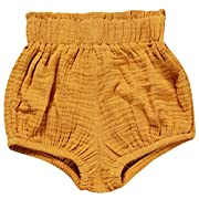 LOOLY Unisex Baby Girls Boys Cotton Linen Blend Bloomer Shorts Yellow 66