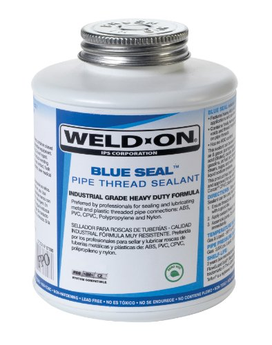 Weld-On 87685 Blue Seal Plastic and Metal Pipe Thread Sealant with Brush in Cap Applicator, 1/2 pint - Pipe Pvc Ips