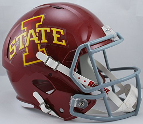 NCAA Iowa State Cyclones Full Size Speed Replica Helmet, Red, Medium by Riddell