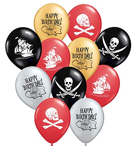Gypsy Jade's Pirate Party Favors - 36 Caribbean Pirates Latex Balloons - Pirate Party Supplies - Great for Pirate Themed Parties! -