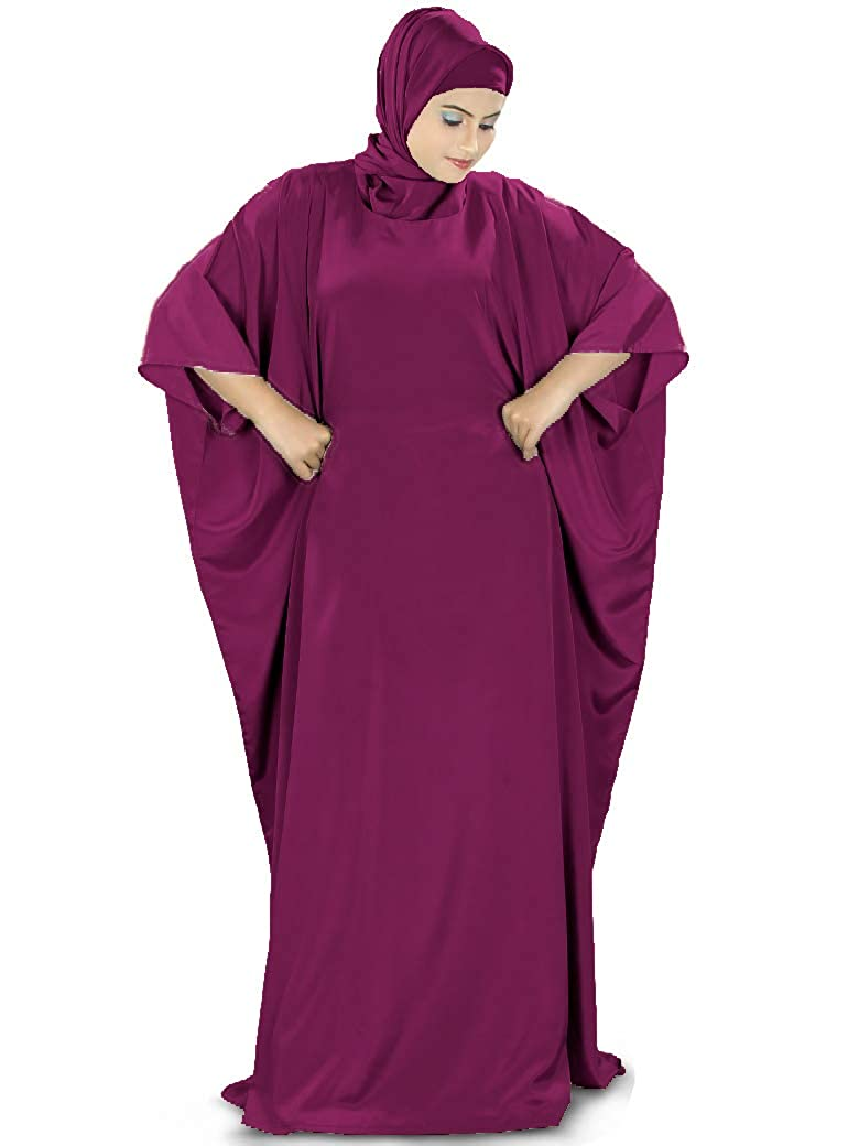 MyBatua Women's Muslim Kaftan, Free Size Abaya, Dubai Maxi Dress, Islamic Clothing KF-001