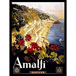 TRAVEL AMALFI COAST BEACH ITALIA ITALY NEW FINE ART PRINT POSTER CC4341