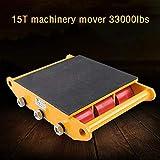 HYYKJ 15Ton 33000LB Machinery Dolly Skate Machinery Roller Mover Cargo Trolley Industrial Machine PU Cast Steel Wheel