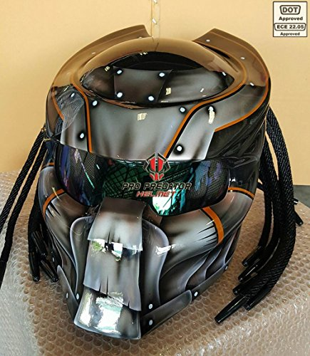 Pro Predator Motorcycle DOT Approved Helmet MK Style include Tri Laser ()