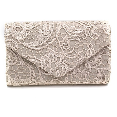 Apricot Lace Floral Parties Womens Clutch For Elegant Purses Clutch Handbags Wedding Envelope And Occasions fOwwztdq