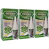 Sanadrin - All Allergy Relief - 24hr - Extra Strength - Sneezing - Itchy, Watery Eyes - Sinus Pressure - Runny Nose- 240 Sprays x 3 - Made in USA