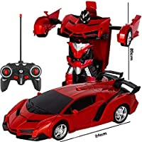 Amitasha Remote Control Robot Bugatti 2in1 Transform Car Toy For Kids