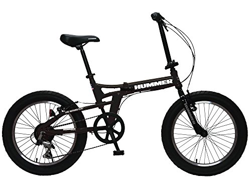 [해외] HUMMER(하마) FDB206FAT-BIKE 20인치 아주 굵음3.0퍼터이어 접이식식 박력 있는 자전거 시마노제6 단변속/전후V브레이크 시스템 13284