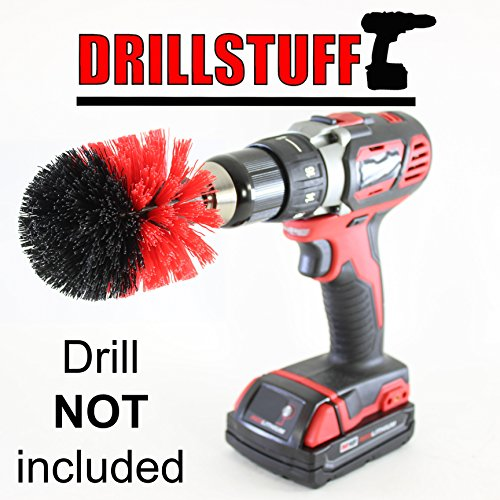 Stiff Corner Drill Powered Scrubber Brush Used for Cleani...