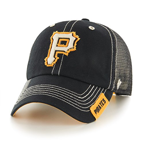 fan products of MLB Pittsburgh Pirates Turner Clean Up Adjustable Hat, One Size, Black