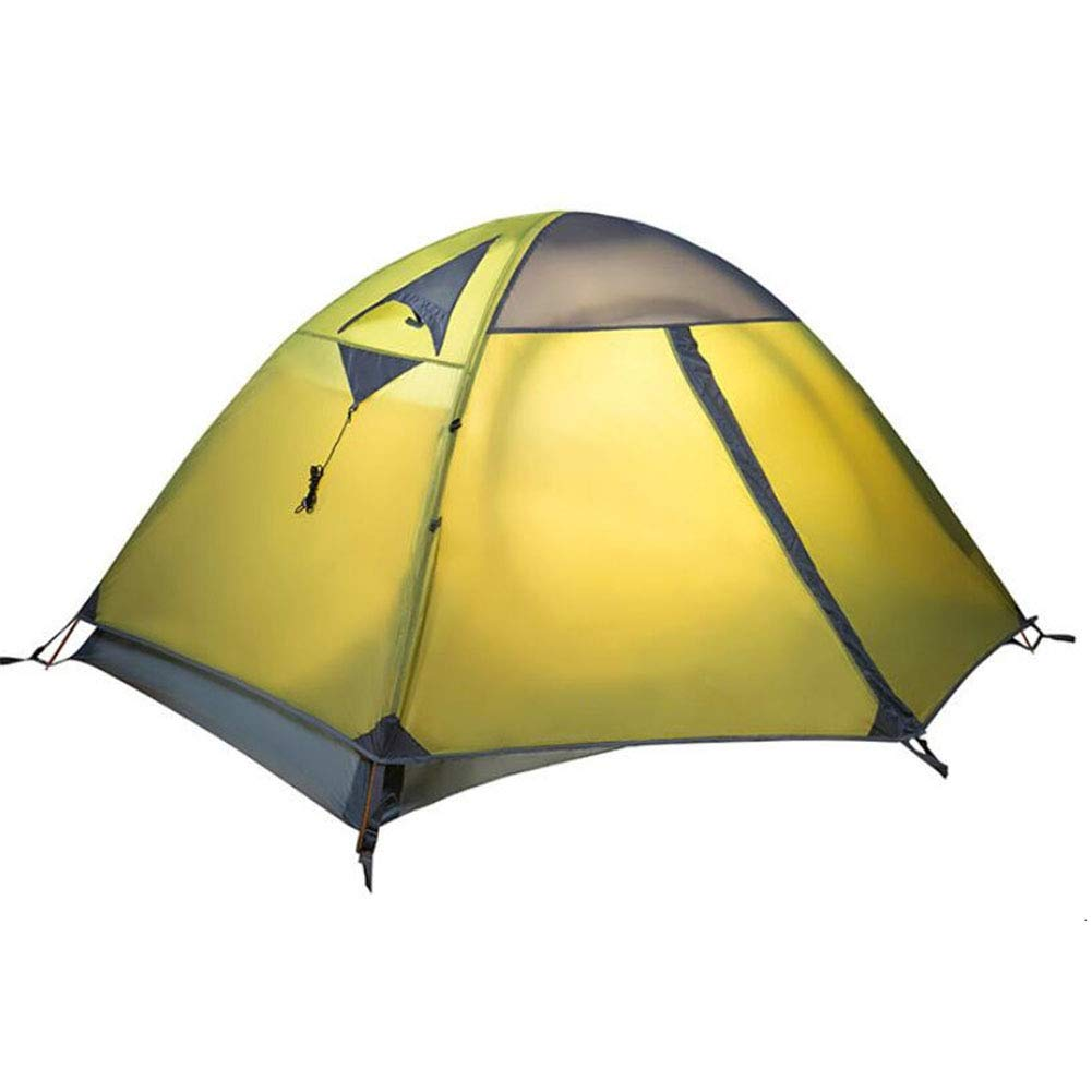 Zelt, Outdoor Camping Travel Zelte 2 Personen 3 Seasons Double Layer Windproof Lightweight Portable Zelt (210  320  110cm)