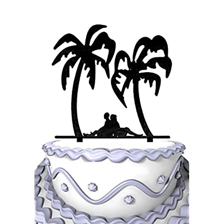 51tFWEd99tL._SS450_ The Best Palm Tree Wedding Cake Toppers