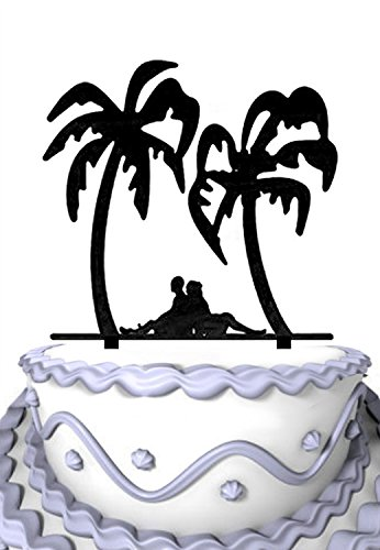 51tFWEd99tL The Best Palm Tree Wedding Cake Toppers