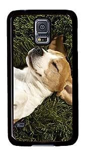 Diy Fashion Case for Samsung Galaxy S5,Black Plastic Case Shell for Samsung Galaxy S5 i9600 with Dog