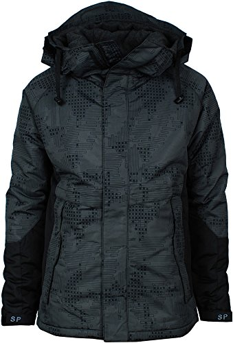 Angel Cola Men's Camouflage Hooded Weatherproof Winter Jacket Type 06 L (Mens Hooded Ski Jackets compare prices)
