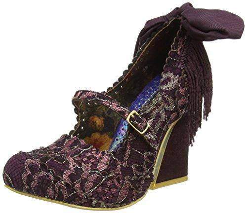 Irregular Choice Pick A Lilly - Tacones Mujer Morado - Purple (Bordo)