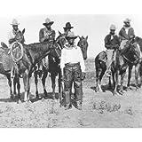 Quality digital print of a vintage photograph - Black Cowboys in Bonham, TX 1890's.. Black & White 11x14 inches - Matte Finish