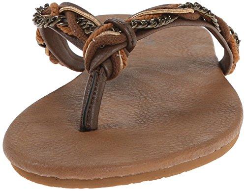 Volcom de las mujeres playa fiesta sandalias Flip Flop Brown