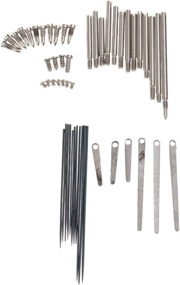 Baosity 1 Set Clarinet Repair Tool Kit Steel Spring Leaf Key Rollers Screws Reed Needle