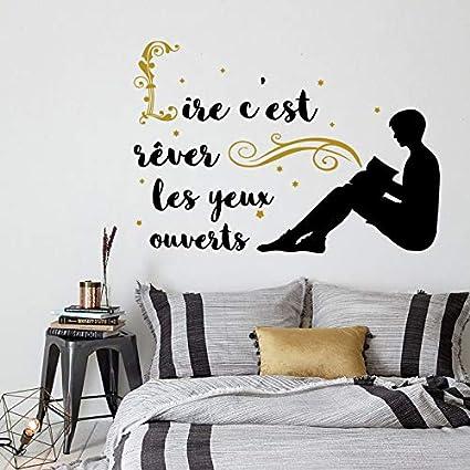 Stickers Muraux Vinyle Citation Lire C Est Rêver Les Yeux