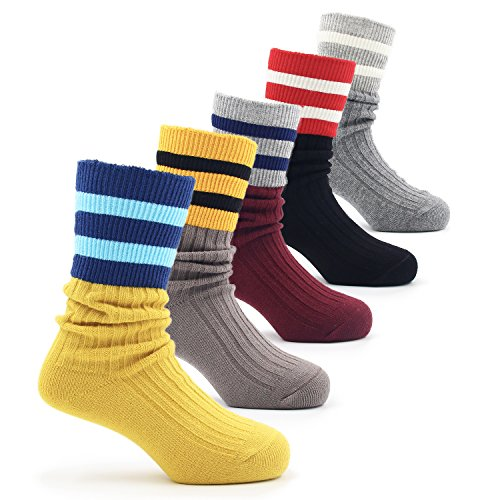 Boys Cotton Seamless Socks Crew Atheletic Sport Socks 5 Pack 6T/7T/8T