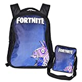 Fortnite Backpack for Boys and Girls | School bag for Kids with Lunch bag Llama Design Spacious and Durable