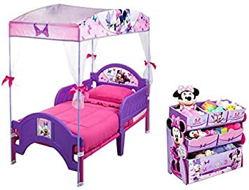 Bundle of 2 includes Delta Minnieu0027s Bow-Tique Canopy Toddler Bed Lavender and  sc 1 st  Amazon.com & Amazon.com: Bundle of 2 includes: Delta Minnieu0027s Bow-Tique Canopy ...