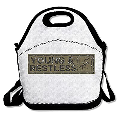 100% Polyester The Young And The Restless Multifunction Reusable Snack Bag Handbag Lunch Tote