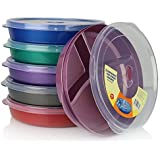 Amazon Com Microwave Divided Plates With Vented Lids