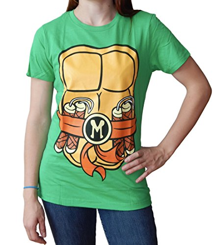 Teenage Mutant Ninja Turtles Juniors Michaelangelo Costume T-Shirt XL]()