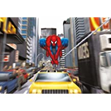 """Wall Mural, Photo Wallpaper SPIDER-MAN RUSH-HOUR 6'x4'1"""" Marvel Comic Spiderman Yellow Cabs NYC"""