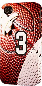 Football Sports Fan Player Number 3 Plastic Snap On Decorative iPhone 6 Case