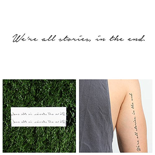 Tattify Doctor Who Quote Temporary Tattoo - Trenzalore (Set of 2) - Other Styles Available - Fashionable Temporary Tattoos (Best Place To Get A Quote Tattoo)