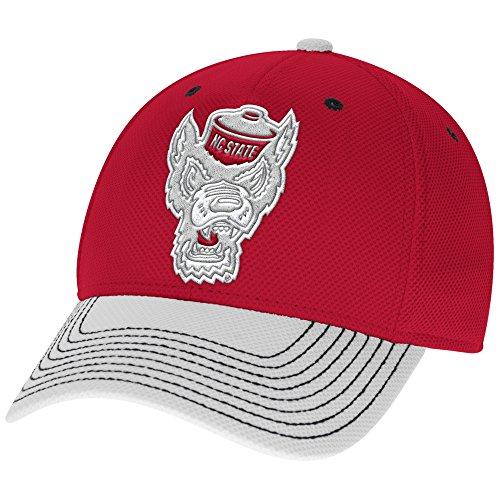 adidas NCAA North Carolina State Wolfpack Men's Two-Tone Structured Flex Cap, Large/X-Large, (2 Tone Ncaa Cap)