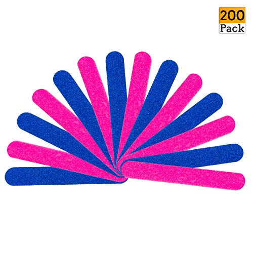 200PCS Disposable Nail Files (180/240 Grit) Double Sided Beauty Care Nail Buffering Files- Home or Professional Boards Manicure Tools