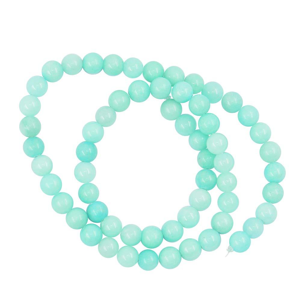 Baoblaze 1 Hilo de Perlas Redondas de ita Azul Natural de 15 Pulgadas de Piedras Preciosas Sueltas - 6 mm