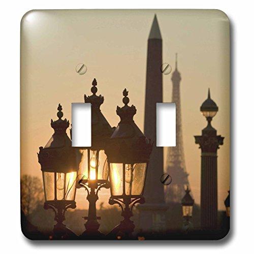 Danita Delimont - Paris - Place de la Concorde, Eiffel Tower, Paris, France - EU09 DBN0760 - David Barnes - Light Switch Covers - double toggle switch (lsp_81473_2)