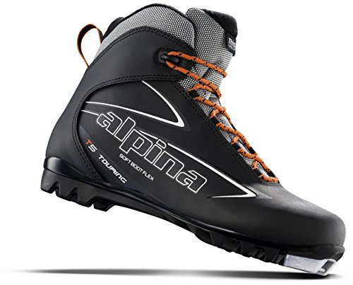 Alpina Sports T5 Touring Cross Country Nordic Ski Boots, Euro 40, Black/White/Red