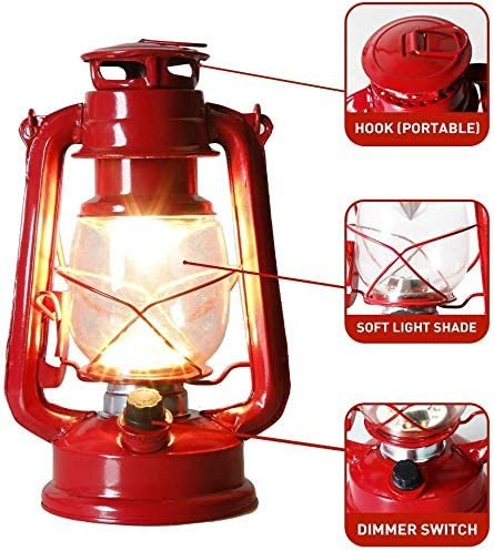 Eambrite Set Of 2 Red Hanging Lantern Battery Operated With Warm White Light Flickering Hurricane Lamp For Garden Camping Hiking Fishing Power Cuts And More Amazon Co Uk Kitchen Home