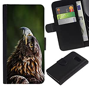 UNIQCASE - Samsung Galaxy S6 SM-G920 - Beautiful Eagle Hawk - Cuero PU Delgado caso cubierta Shell Armor Funda Case Cover