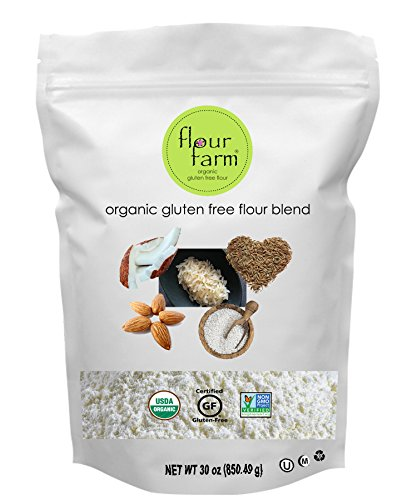 Organic Gluten Free Flour Blend - All Purpose Flour made with 5 Organic GF Ingredients - Sweet Rice Flour, Brown Rice Flour, Tapioca Flour, Almond Flour & Coconut Flour - by Flour Farm (Substitute All Purpose Flour For Coconut Flour)