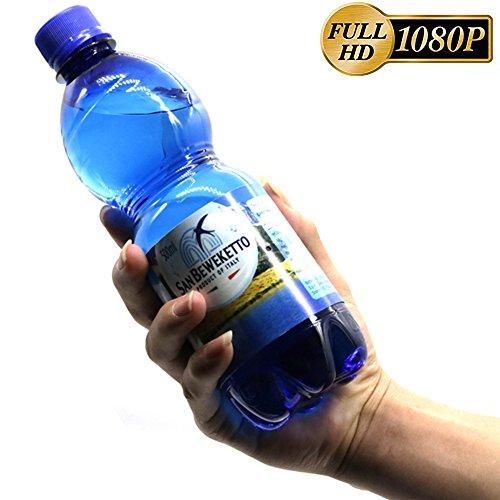 Bottled Water Hidden camera, CAMXSW Full HD 1080P Water Bottle Spy Camera Covert Hidden Nanny Cam And actual water Bottle