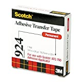Scotch 92434 Adhesive Transfer Tape Roll, 3/4'' Wide x 36yds