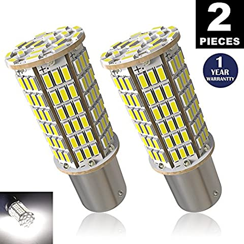 LUYED 2 x 1440Lumens Super Bright 1156 3014 144-EX Chipsets 1156 1141 1003 7506 LED Bulbs Used For Back Up Reverse Lights,Brake Lights,Tail Lights,Rv lights,Xenon (1156 Led Bulb Replacement)