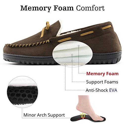 Pictures of RockDove Men's Memory Foam Moccasin Slippers 5