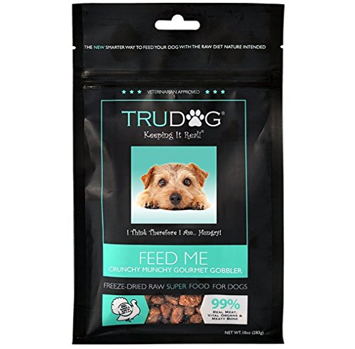 Real Meat Dog Food - Feed Me: Freeze Dried Raw Superfood for Optimal Canine Health and Natural Longevity - All Natural Balanced Nutrition - No Filters, No Grain - Just Add Water (Turkey, 10oz)