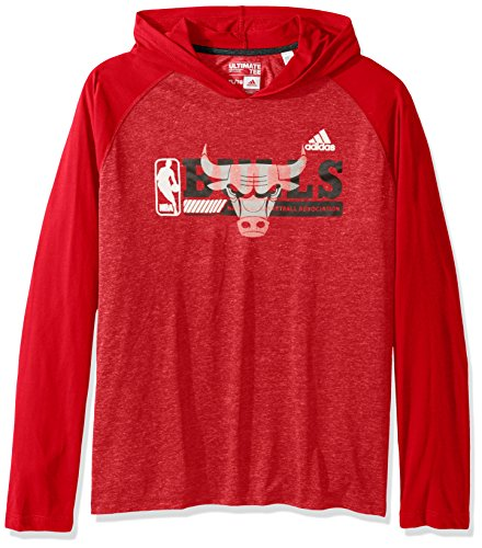 ult Men Fast Break Climate Ultimate L/S Hood, Medium, Red ()
