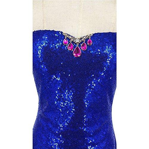 la Vestido de de Fiesta Noche de Mujer FOLOBE Lentejuelas A Vestido afxZF4wqq