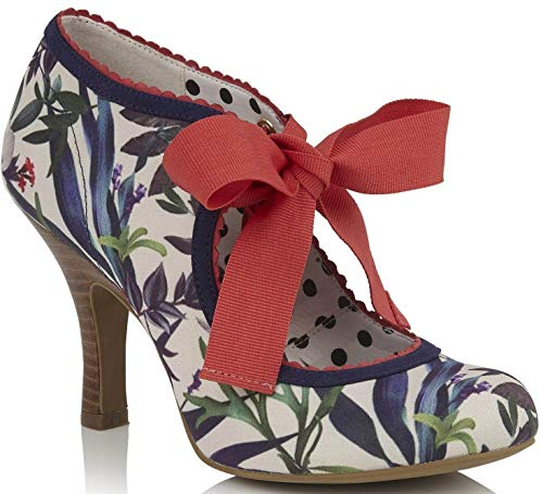 (Ruby Shoo Women's Willow Sage Floral Ankle Wrap High Heel Pump UK 4 - EU 37 - US 6)