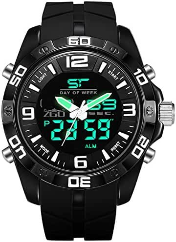 Sports waterproof dial digital watch/Fashion simple light middle school students watch-C